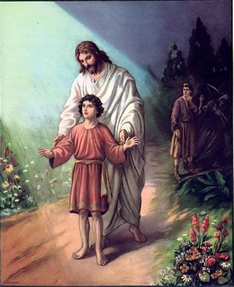portraits of jesus a reading guide books jesus guiding a boy as looks on quot to guide our