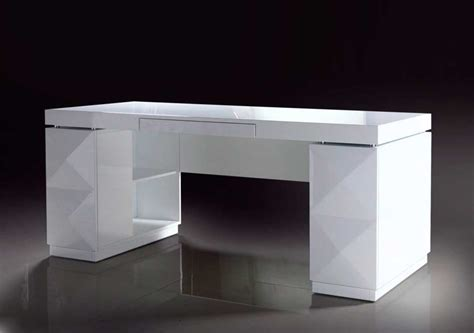 Modern White Lacquer Office Desk Desks Modern White Desk