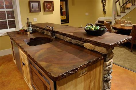 cool countertop ideas concrete countertops kitchen ideas pinterest
