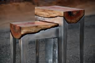 Cast Aluminium Outdoor Furniture - wood and metal unite in striking furniture by hilla shamia bored panda