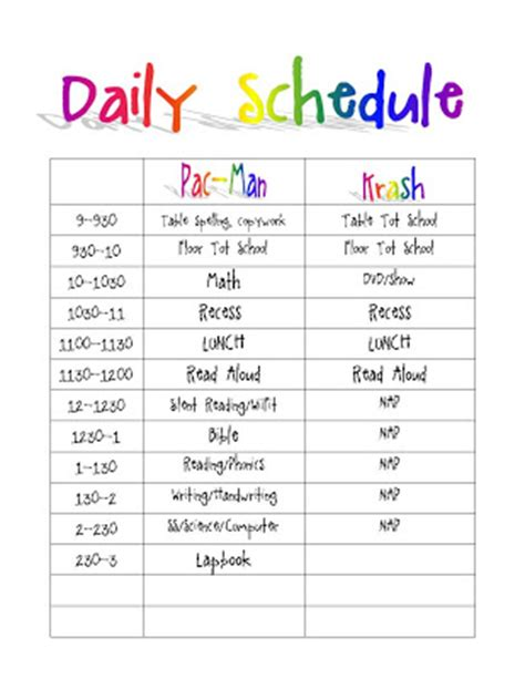 daily schedule template for students the routines schedules and planning 1 1 1 1