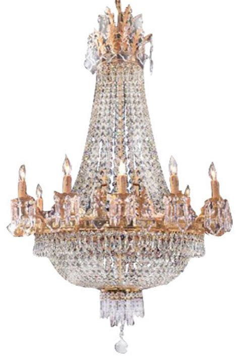 French Empire Crystal Chandelier Chandeliers H40 Quot X W30 Gallery Chandelier