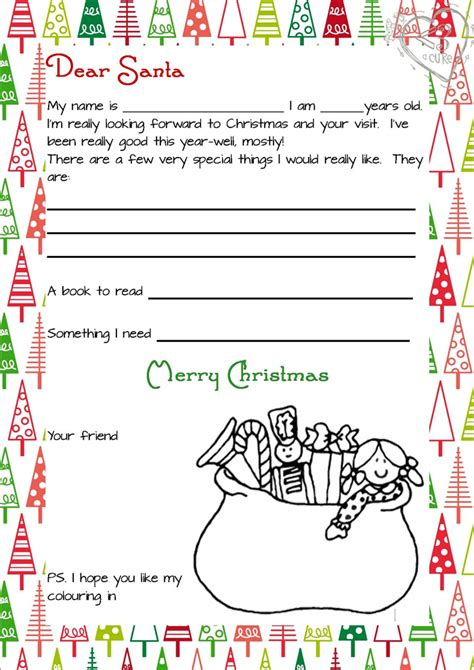 letter to santa template printable pdf 3 piece printable christmas letter from santa love a