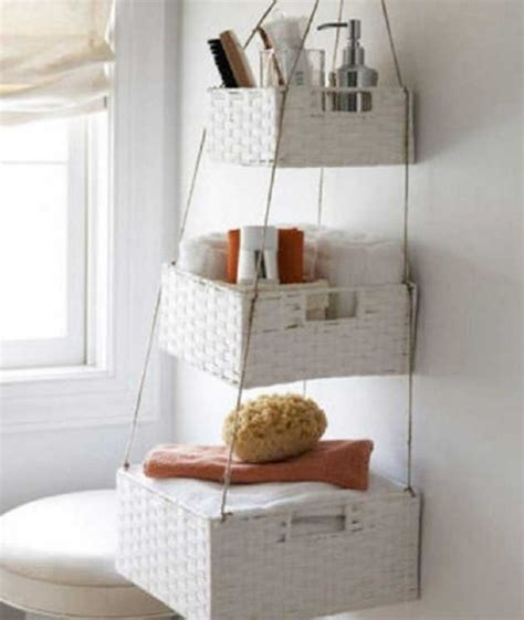 diy bathroom baskets 16 clever diy storage hacks for small bathrooms style