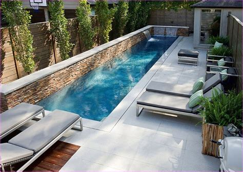 Lap Pool In Small Backyard Google Search Screened Hot Small Swimming Pools For Small Backyards