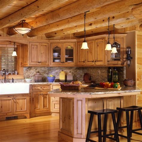 shopping    rustic kitchen cabinets   log