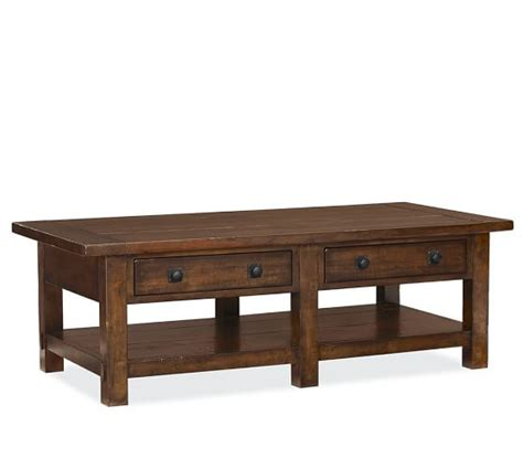 pottery barn coffee table benchwright rectangular coffee table pottery barn