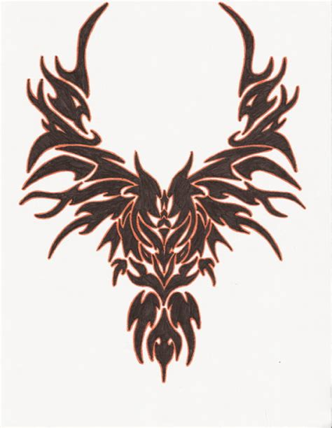 tribal bird tattoo bird design on back