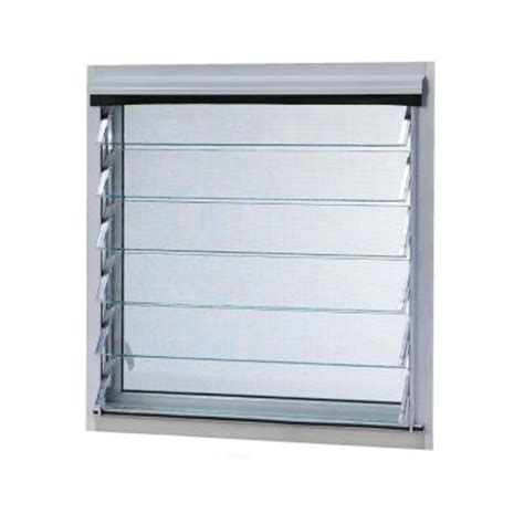 tafco windows 12 in x 17 375 in jalousie utility louver
