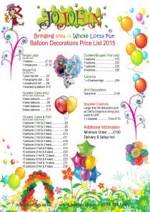 Balloon Decorations Prices by Balloon Decorations Tel 07743 196691 Decoration