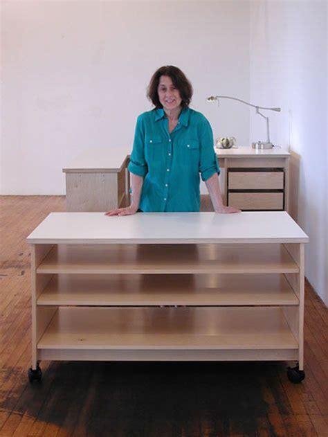 art desk with storage art studio rolling work with adjustable large art