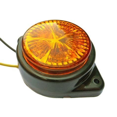 pl l rond paire de feux rond orange 224 5 leds 24 volts led pl