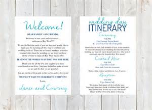 wedding welcome letter template welcome letter wedding welcome letter wedding itinerary