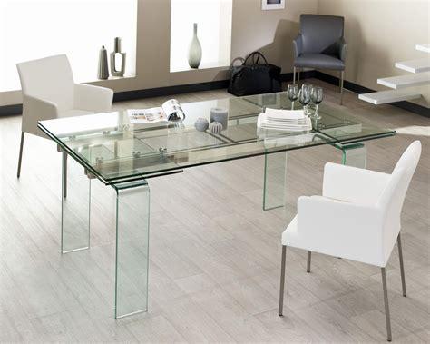 table en verre table de salle a manger quartz verre 160 224 260 cm