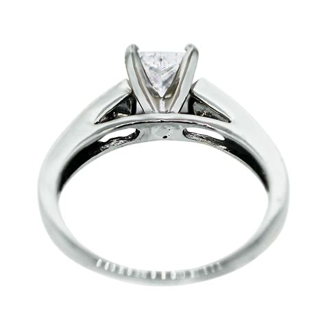 14k white gold 1 08ct princess cut egl engagement ring