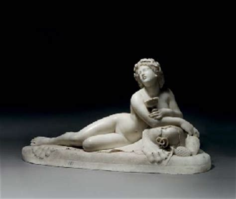 reclining bacchante a carved marble figure of a reclining bacchante circle