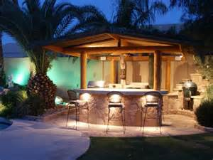 exterior casual backyard bars designs with comfortable