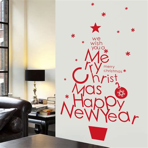 merry christmas wall stickers home decorations santa claus vinyl decals happy  year quotes