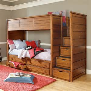 Captain Bunk Beds Lea Elite Logan County Bunk Loft Bed In Burnished Pine Traditional Bunk Beds By