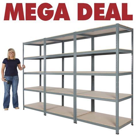 Garage Shelving Units 3x New 5 Shelf Units 71 Quot Hx36 Quot Wx24 Quot D Steel Garage Shelving