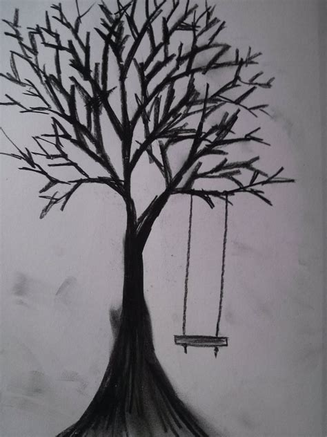 tree with swing drawing tree with swing sketch by empressbetsy on deviantart
