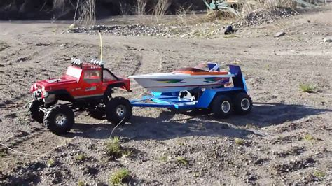 rc car and boat trailer for sale rc trucks with trailers and boats 6 215 6 optimus semi truck