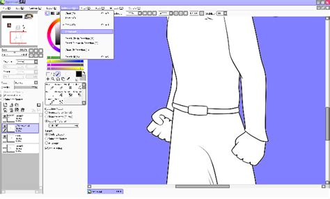 paint tool sai how to select all layers digital tutorial coloring in paint tool sai shouldn t