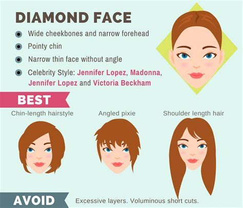 The Right Hairstyle For Your Diamond Face Shape | the ultimate hairstyle guide for your face shape makeup