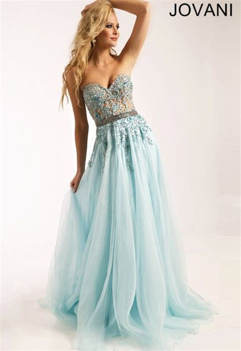 light blue strapless top stunning cinderella light blue prom dress 2015 by jovani