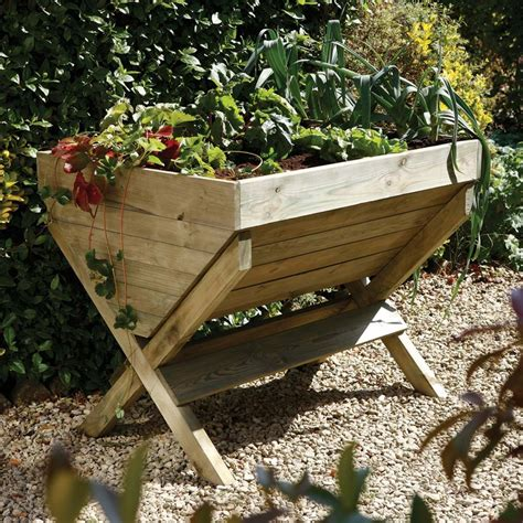 Trough Garden Planters by Attractive Wooden Kitchen Garden Trough Planter
