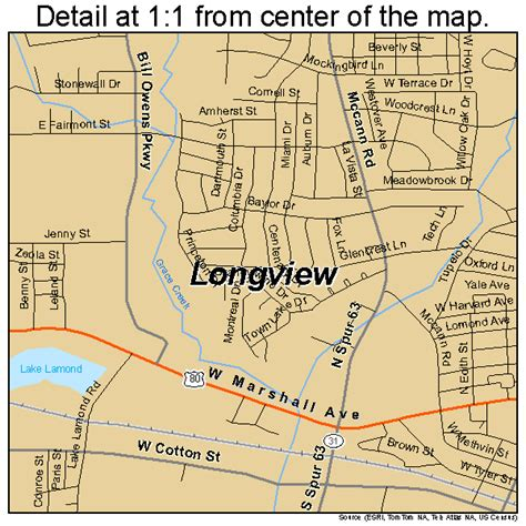 longview texas map longview texas map 4843888