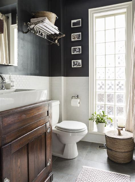 bathroom white cabinets dark floor awesome bathroom effect black and white wall with dark