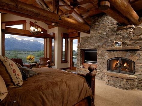 log cabin bedrooms 38 rustic country cabins with a stone fireplace for a