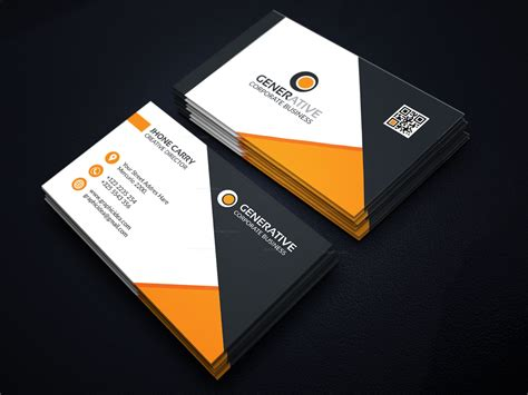 Design Template For Visiting Cards by Eps Creative Business Card Design Template 001596