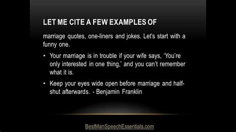 Quotations, Jokes and One Liners for Best Man Speeches