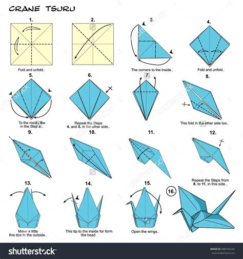 Origami With Steps - origami make origami bird steps how to make paper parrot