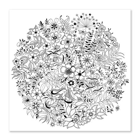 secret garden coloring book page one garden coloring book magic garden fantastic flowers