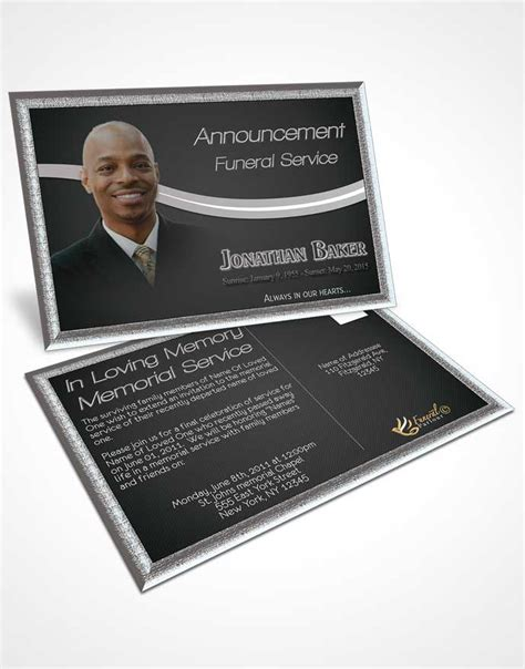 Funeral Memorial Card Template by Obituary Template Trifold Brochure Black And White