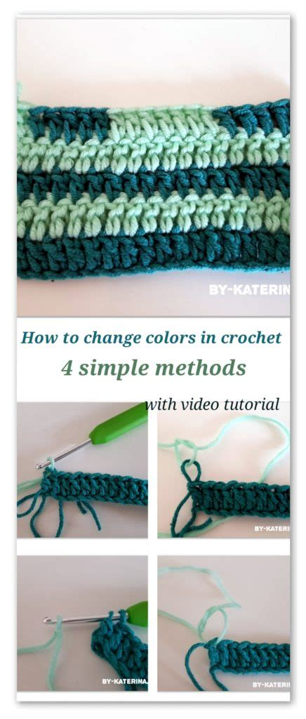 how to change colors in crochet tips tricks how to change colors in crochet bykaterina
