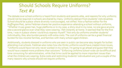 Persuasive Essay On Wearing School Uniforms by Argumentative Essay Uniforms