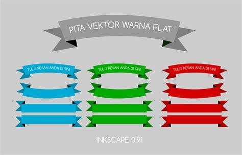 flat color tutorial desain inkscape