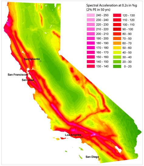 seismic zone map california seismic hazard mapping of california considering site effects