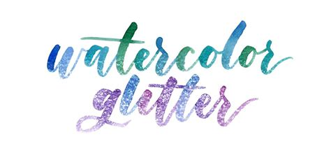 watercolor typography tutorial create a watercolor glitter effect in photoshop every