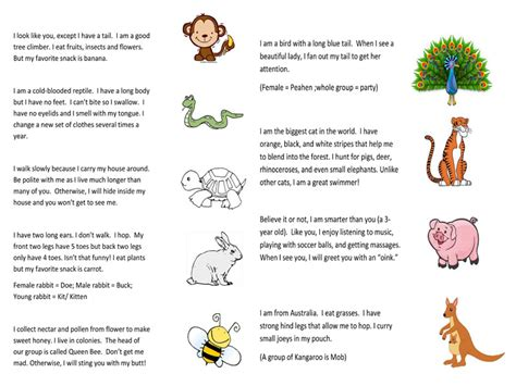 printable animal riddles animal riddles for kids riddles for kids