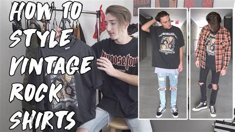 Tshirtkaos Rock 5 Jidnie Clothing How To Style Vintage Rock Shirts