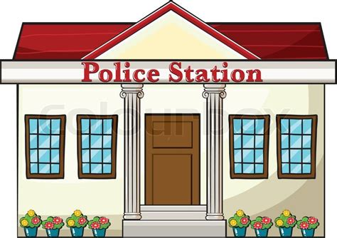 Home Building Plans And Prices by A Police Station Stock Vector Colourbox