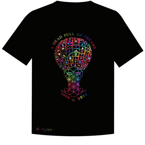 coldplay t shirt t shirt design submission for coldplay s head full of
