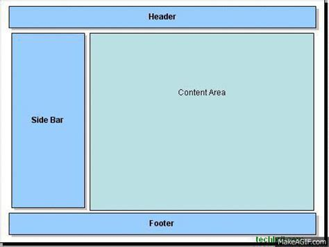 html layout div side by side fixed sidebar during scrolling between header footer