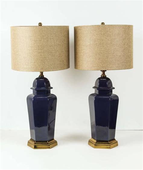Asian Jar Table L For Sale At 1stdibs Pair Of Modern Cobalt Blue Jars Table Ls