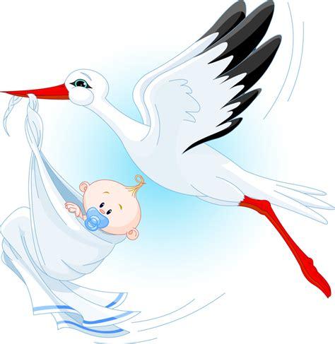 Pialatrophy Figur Burung 1 Set Stork Carrying A Baby Vector Vector
